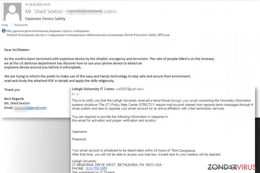 Hoe kunt u een e-mail identificeren die is besmet met een virus? snapshot