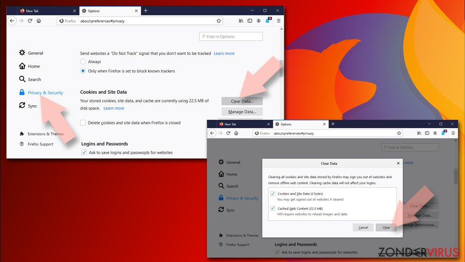 Mozilla Firefox opnieuw instellen