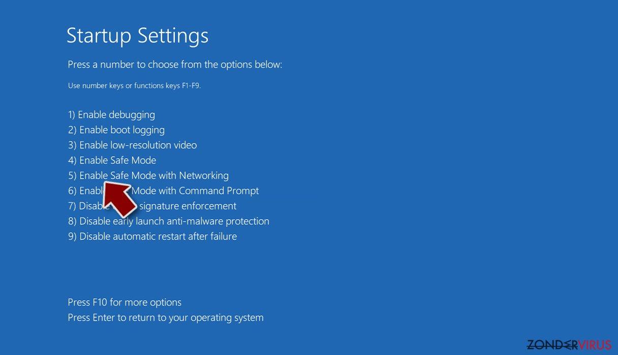Gijzelsoftware: handmatig gijzelsoftware verwijderen in veilige modus