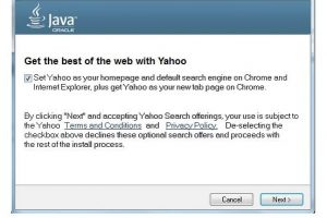Oracle heeft besloten om Ask te vervangen met Yahoo! in Java updates