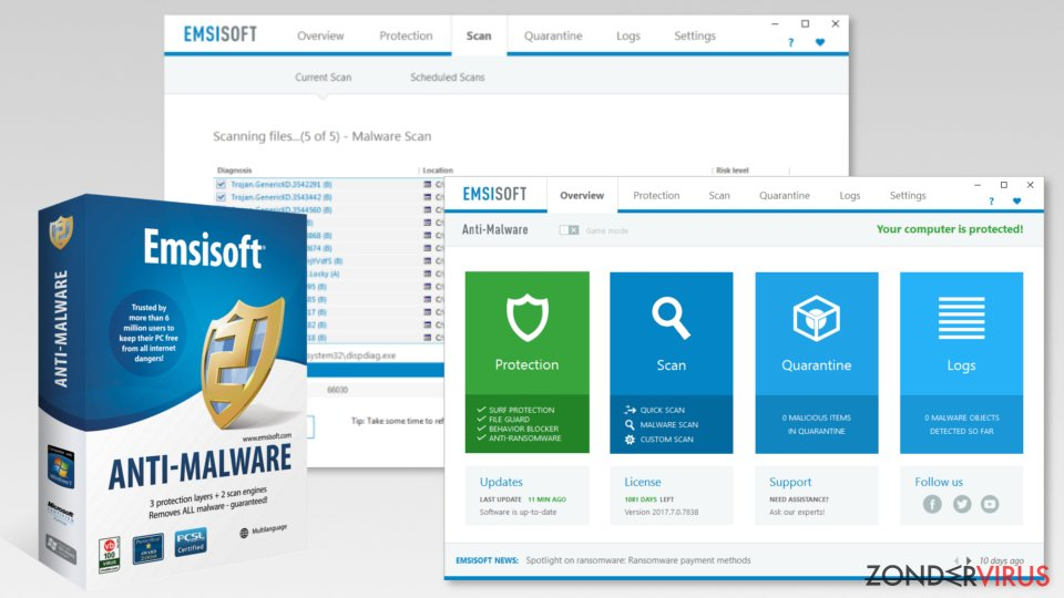De beste anti-malware softwarevan 2019