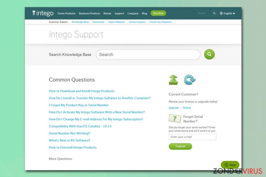 Intego tech support