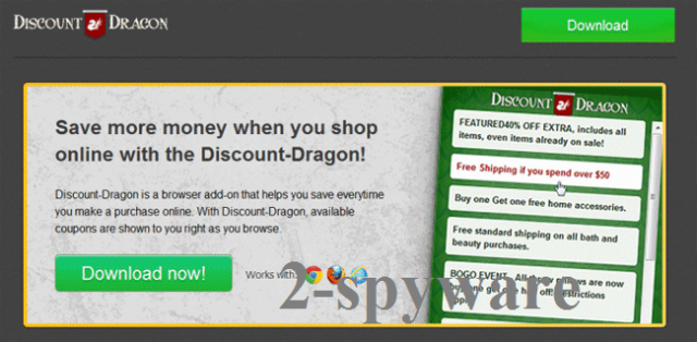 'Ads by Discount Dragon' virus snapshot