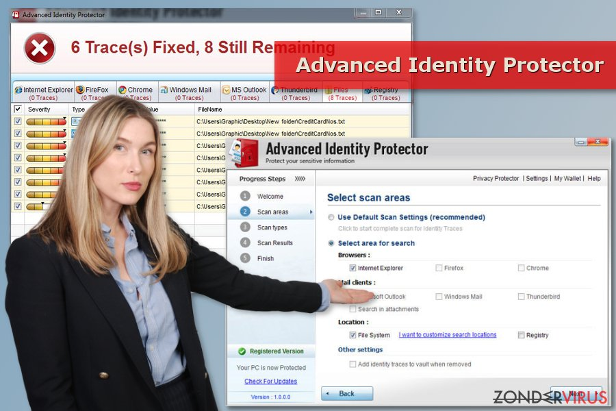 Advanced Identity Protector scan