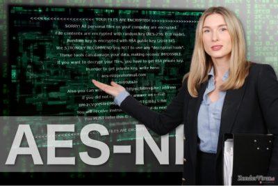 De afbeelding van AES-NI randsomeware