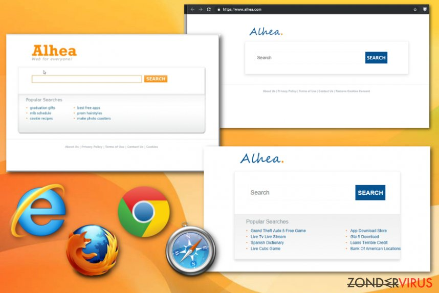 De Alhea browser hijacker