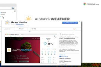 Afbeelding die de Always Weather plug-in weergeeft