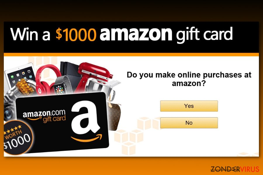 Amazon Gift Card enquete scam voorbeeld