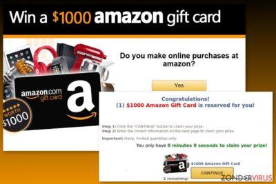 Amazon Gift Card virus voorbeeld