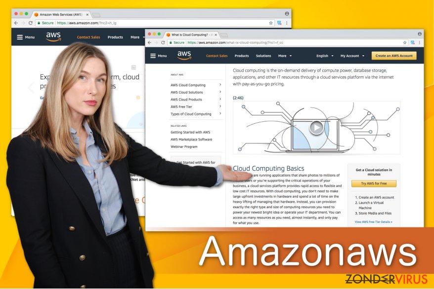 Illustratie van Amazonaws