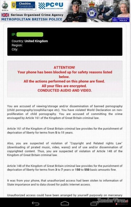 Android Police Virus snapshot