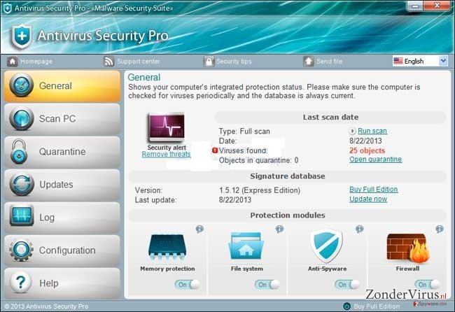 Antivirus Security Pro snapshot