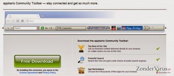 Appbario toolbar snapshot