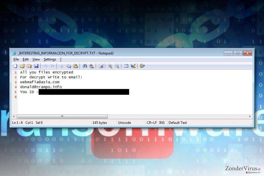 Azer ransomware virus