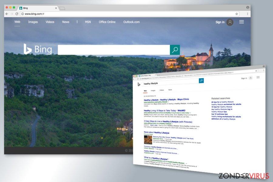 Bing redirect-infectie