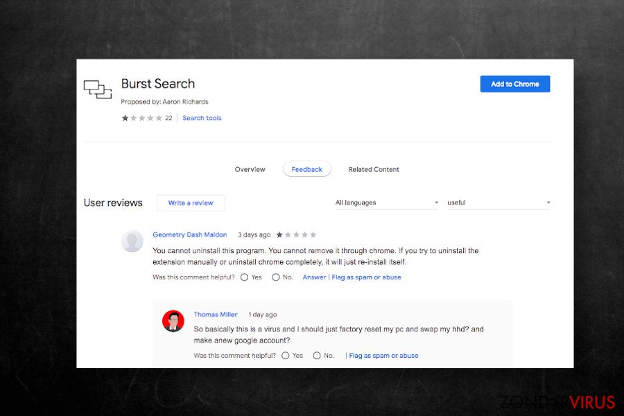 Burst Search-extensie