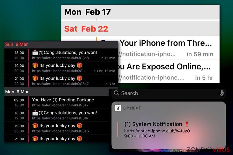 Calendar-virusmeldingen