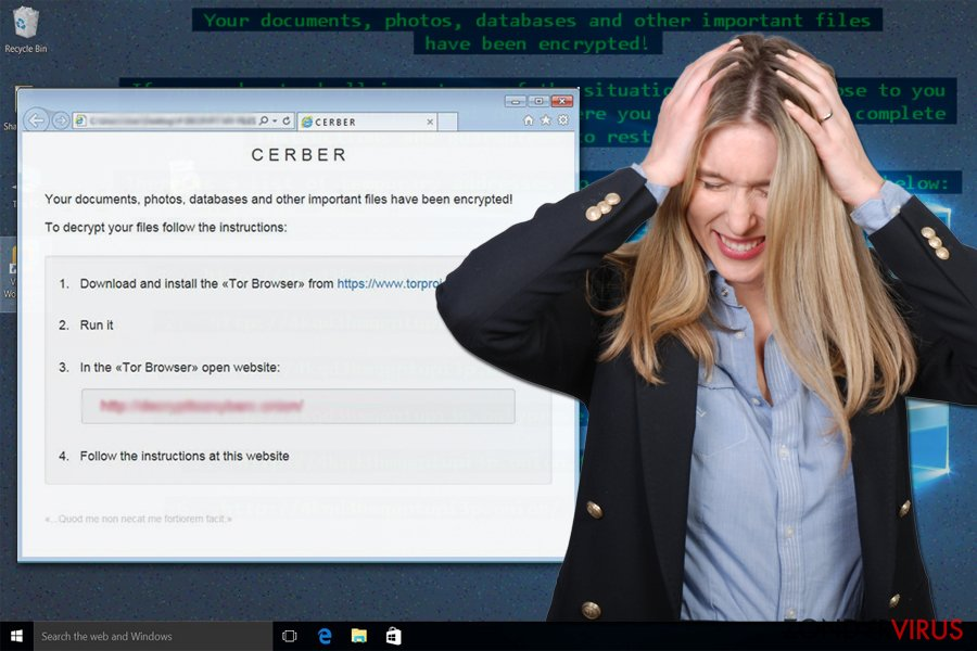 .Cerber3 file extension virus