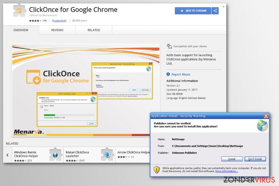 Chrome redirect virus snapshot