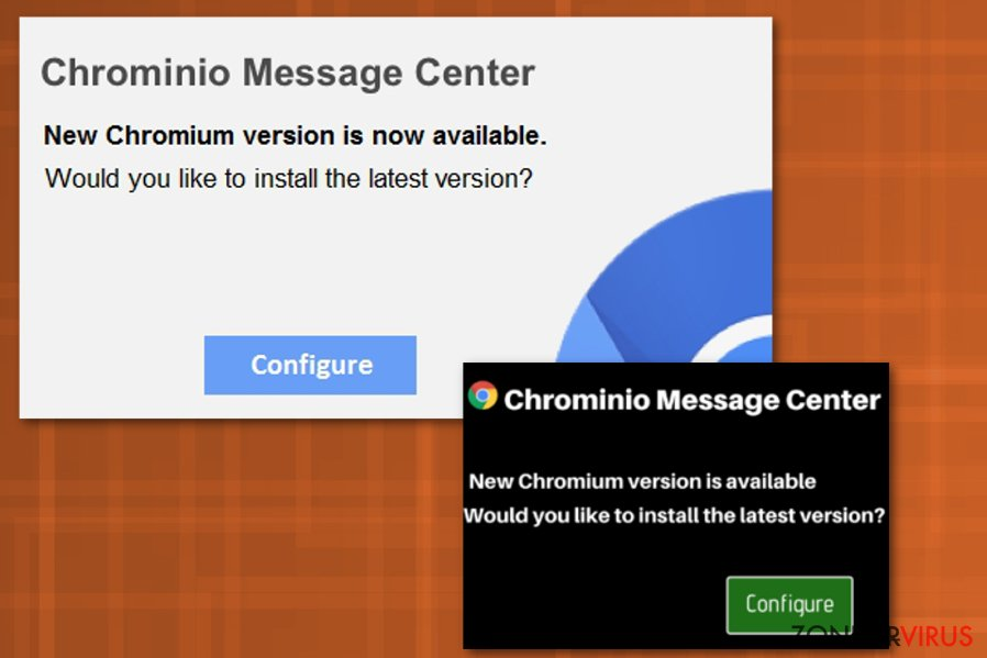 Het Chrominio Message Center virus