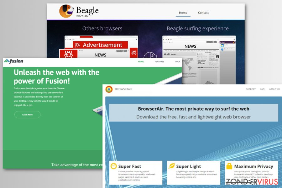 Chromium nep browser voorbeelden