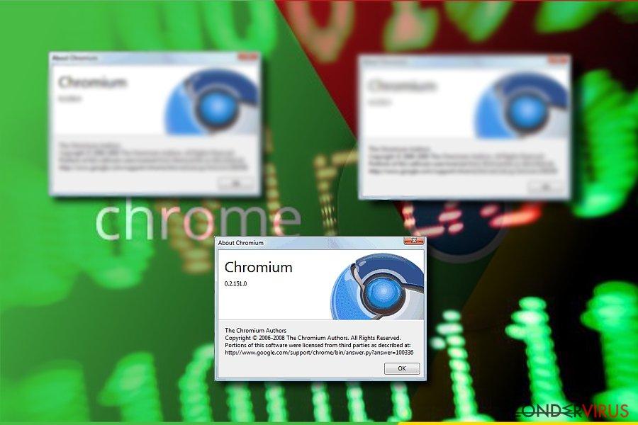 Afbeelding die Chromium toont