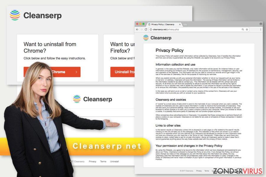 De illustratie van het Cleanserp.net-virus