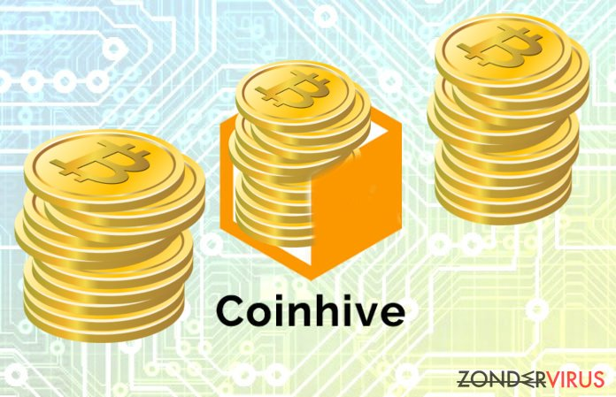 The picture illustrating Coinhive misused for mining cryptocoins