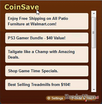 Ads by CoinSave snapshot