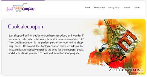 CoolSaleCoupon adware snapshot