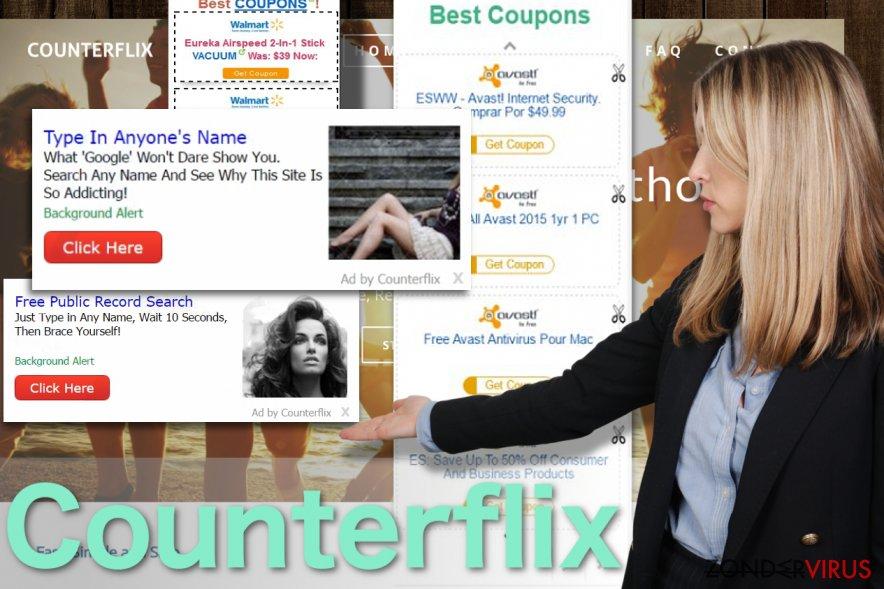 Afbeelding van de Counterflix-ads