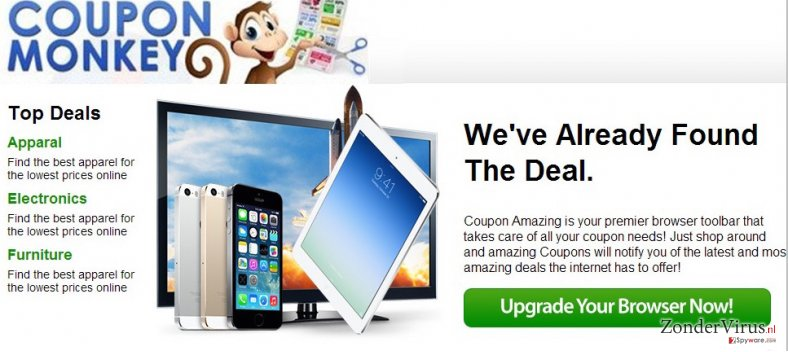 Coupon Monkey advertenties snapshot