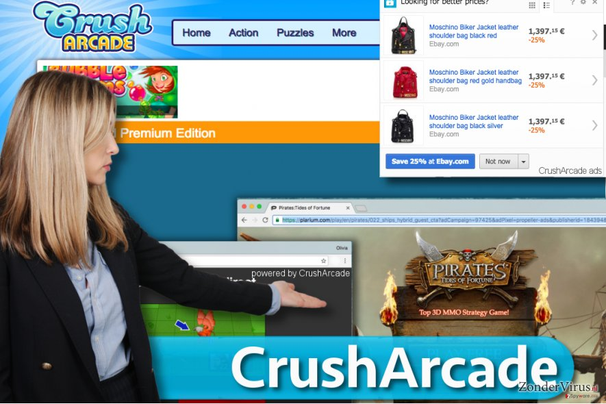 CrushArcade advertenties snapshot