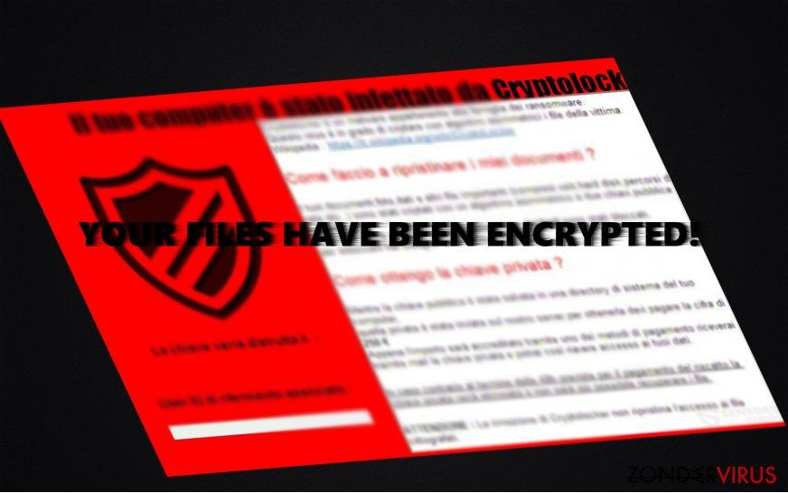 The ransom note of CryptoLocker 5.1