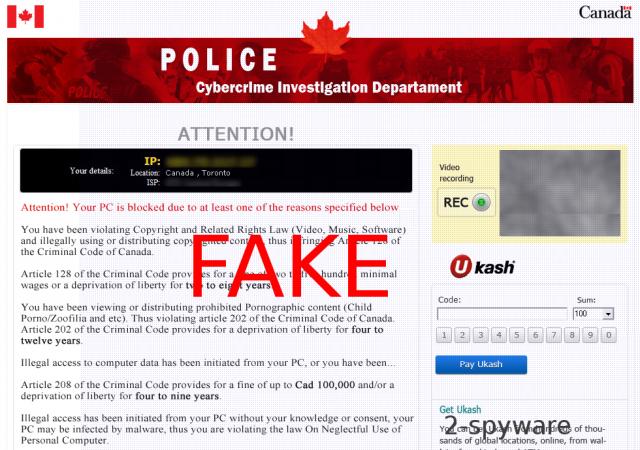 Cybercrime Investigation Department virus snapshot