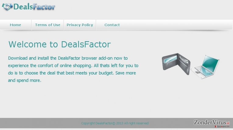 DealsFactor virus snapshot