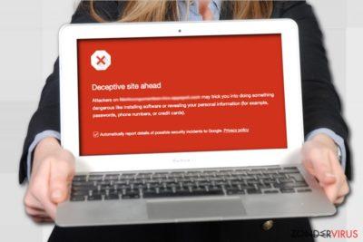 De Deceptive Site Ahead-waarschuwing op Google