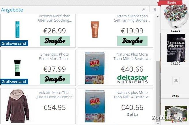 DelightfulDeals adware snapshot
