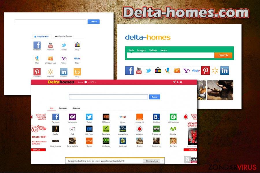 Delta-homes.com snapshot
