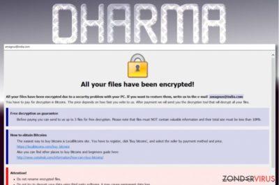Dharma losgeldbrief
