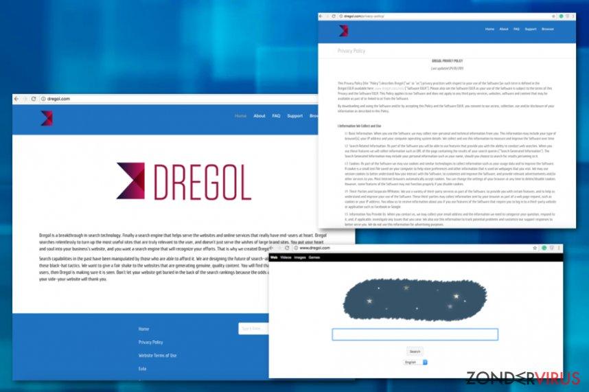 Dregol.com omleidingen snapshot