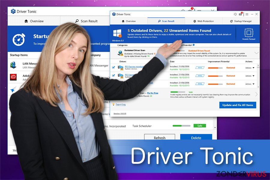 Driver Tonic illustratie