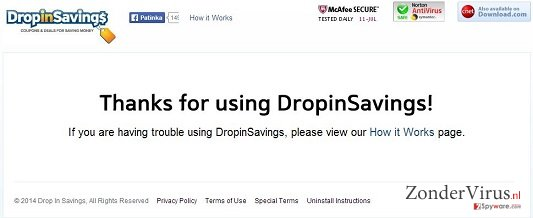DropinSavings virus snapshot
