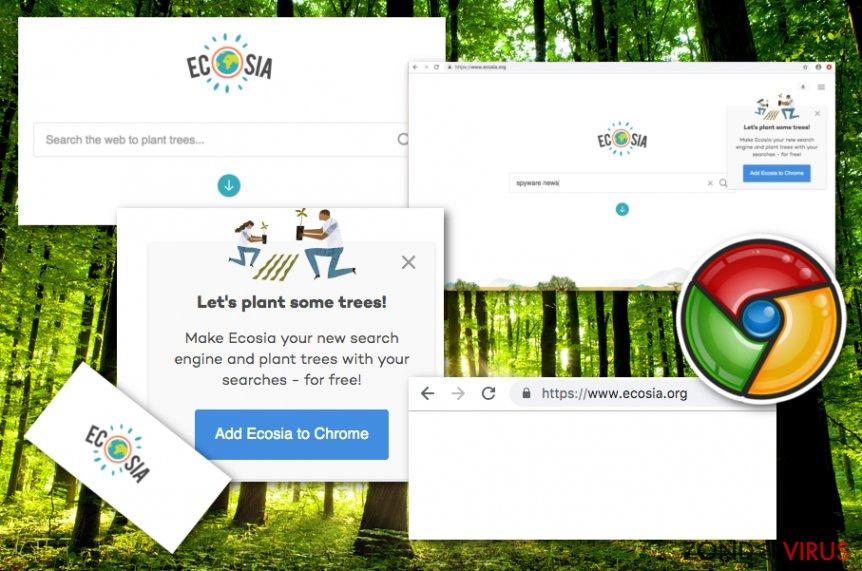 Het Ecosia.org-virus snapshot