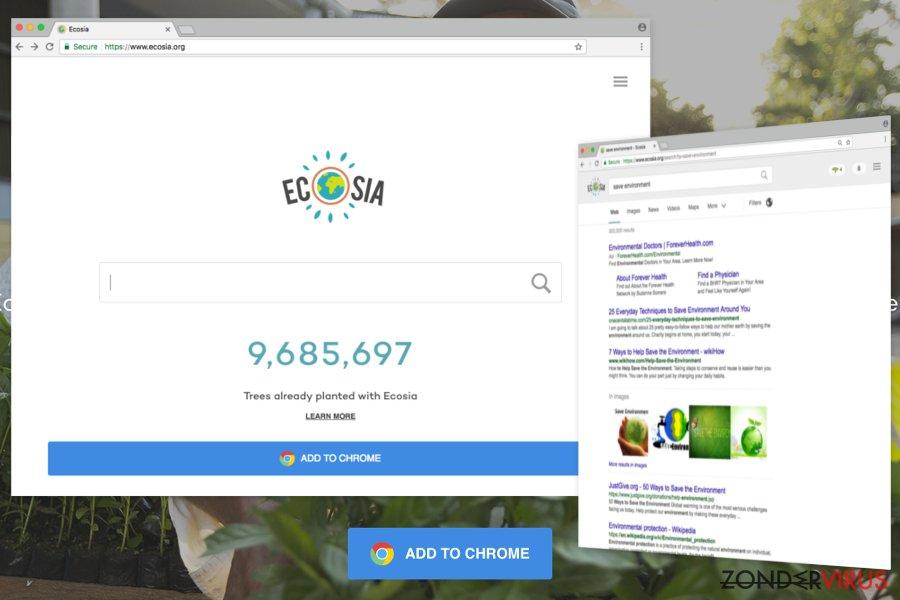 Voorbeeld van Ecosia.org