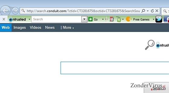 Entrusted Toolbar snapshot
