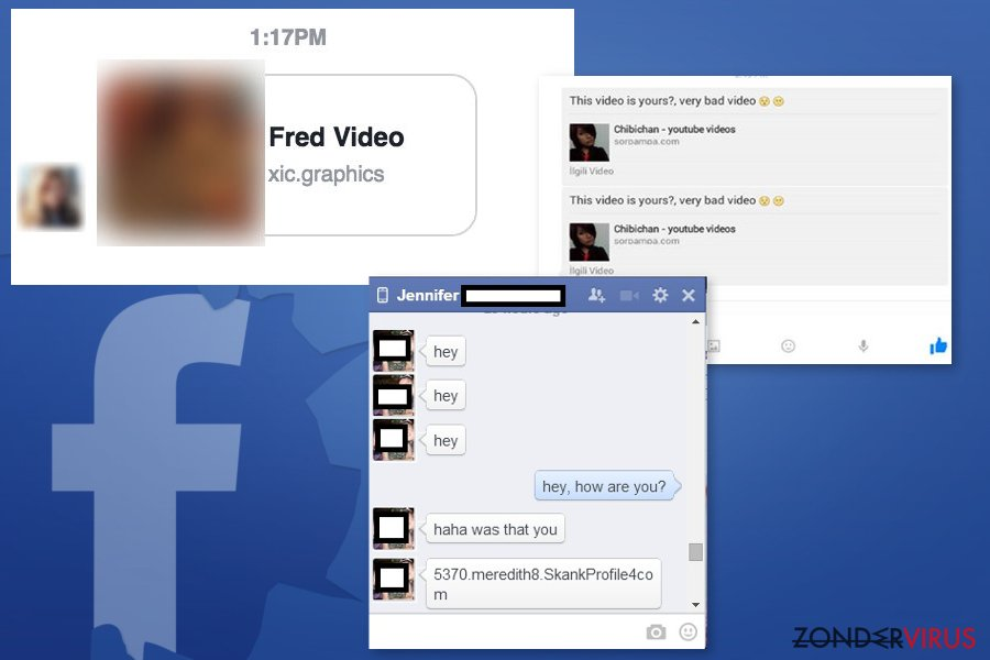 Examples of Facebook Message virus