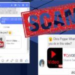Facebook Messenger-virus snapshot
