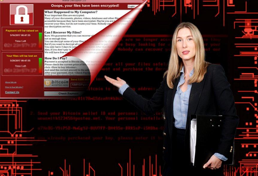Voorbeeld van de FakeCry-gijzelsoftware