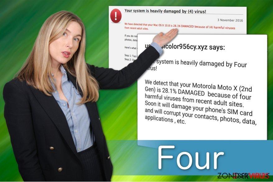 Four virus nep waarschuwing